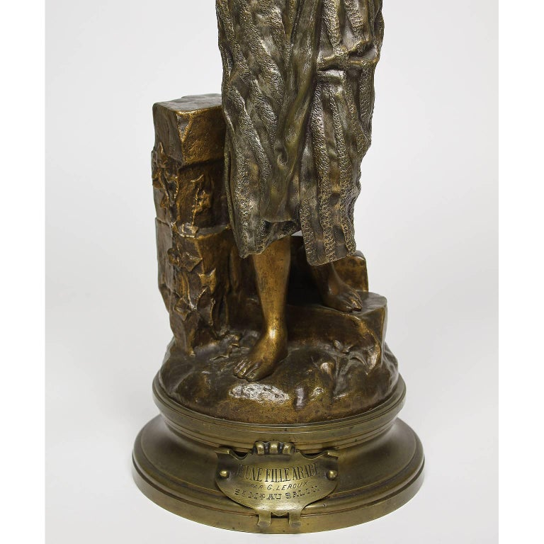 Greco Roman After Gaston Leroux French 19th Century Bronze Sculpture of Rebecca For Sale