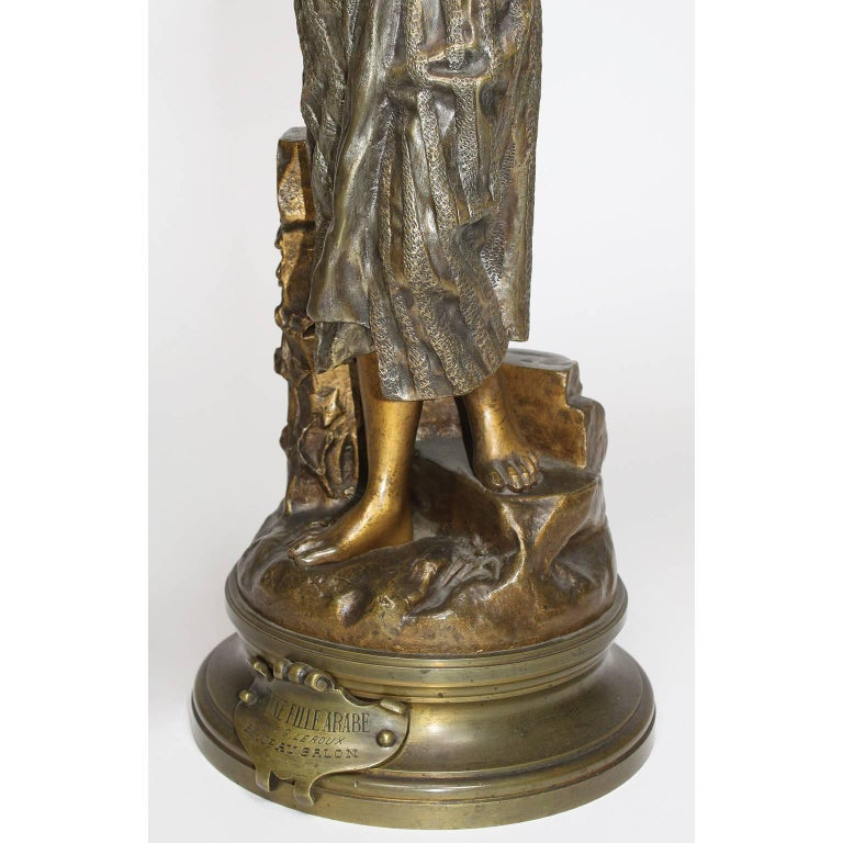 Early 20th Century After Gaston Leroux French 19th Century Bronze Sculpture of Rebecca For Sale