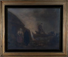 After George Morland (1763-1804) - 19th Century Mezzotint, The Fishermen