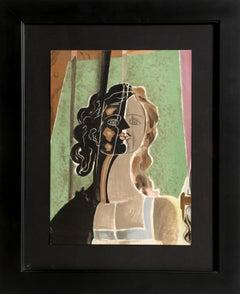 Figure (Fragment), Cubist Portrait by Georges Braque