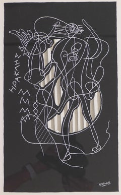 Herakles - Original lithograph After G. Braque - 1951
