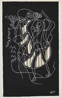 Herakles - Original Lithograph After G. Braque - 1951