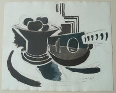 La Mandoline - Lithograph and Stencil - 1943