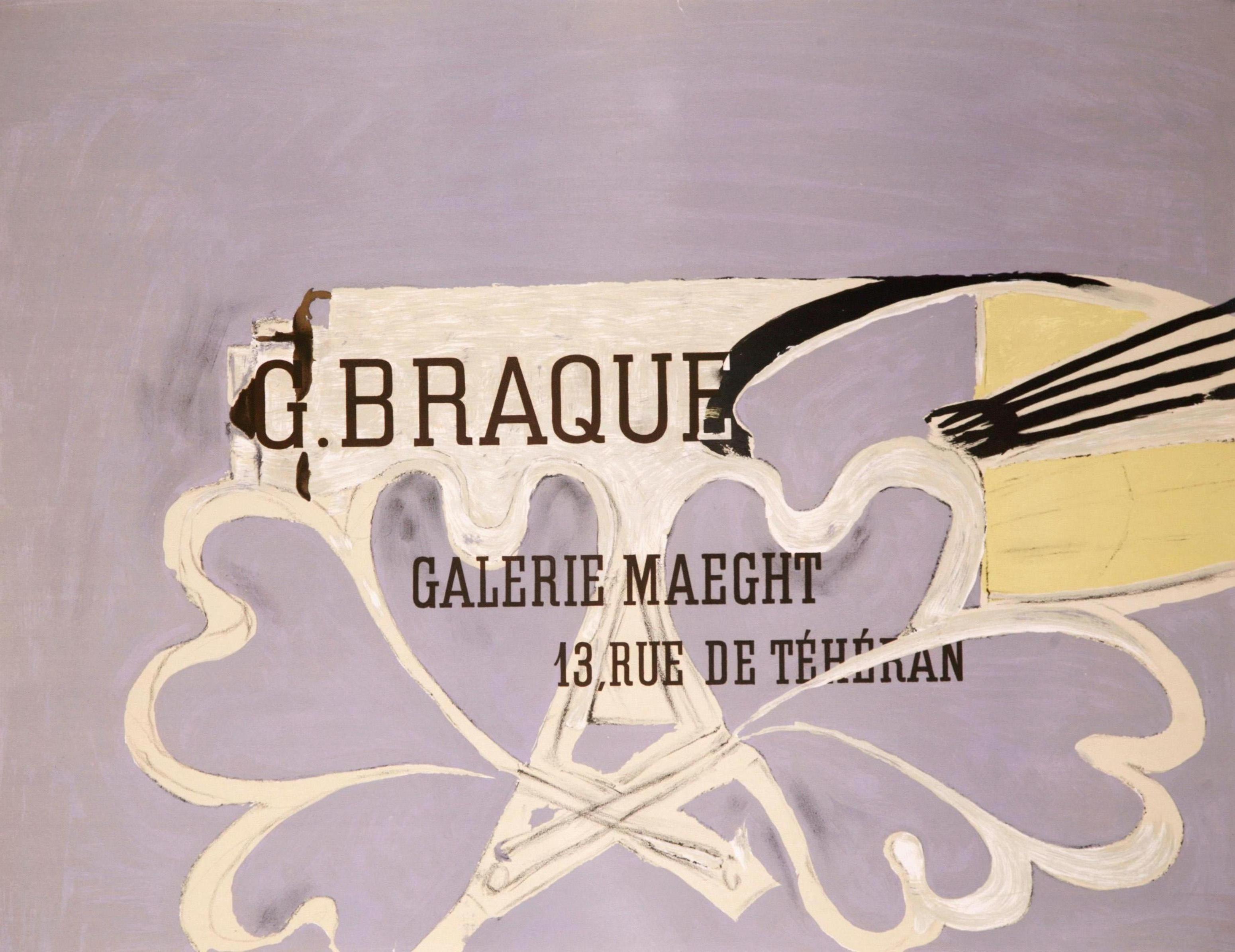 La Palette au Fond Gris - Galerie Maeght (after) Georges Braque, 1952