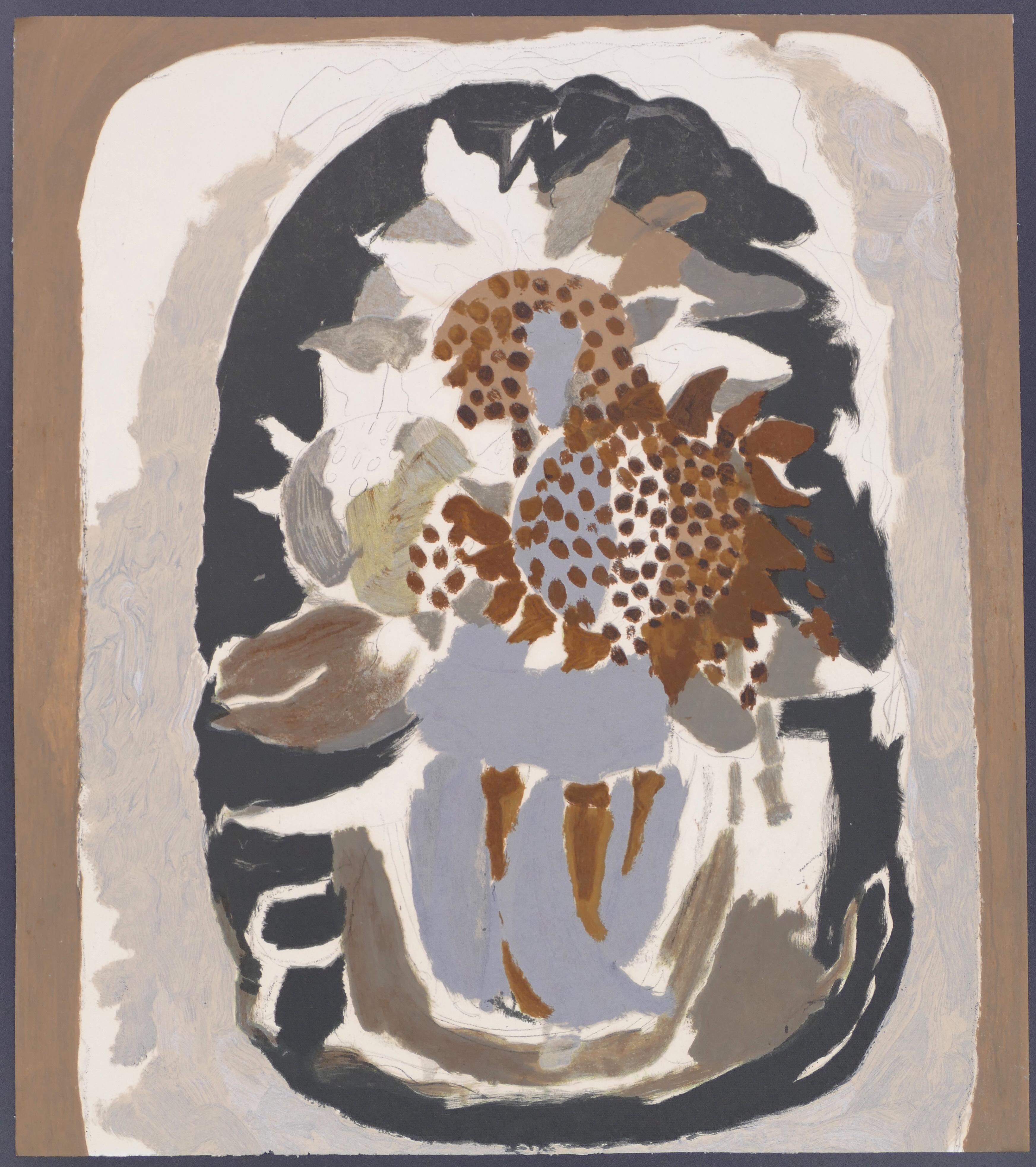 Le Repos - Original Lithograph After G. Braque - 1967