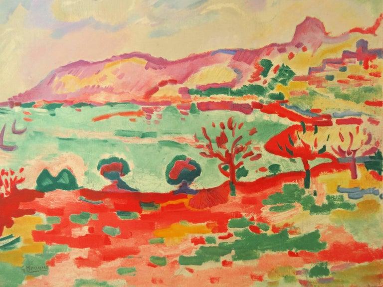 Marseille : L'Estaque Landscape - Lithograph, 1972 - Fauvist Print by (after) Georges Braque