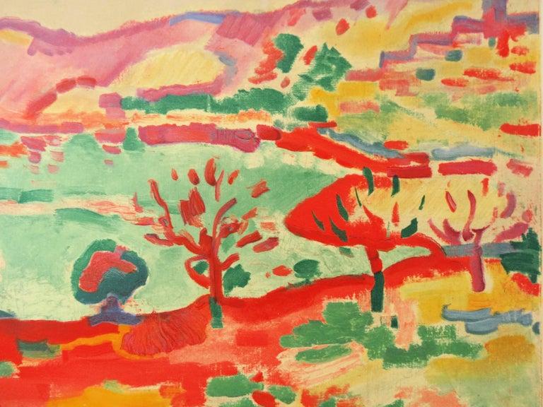 Marseille : L'Estaque Landscape - Lithograph, 1972 - Gray Landscape Print by (after) Georges Braque