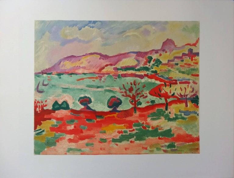 (after) Georges Braque Landscape Print - Marseille : L'Estaque Landscape - Lithograph, 1972