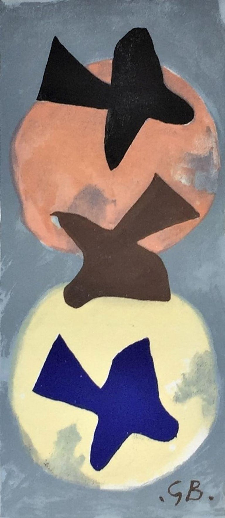 (after) Georges Braque Abstract Print - Soleil et lune  (Sun and Moon)
