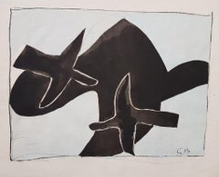 The Black Birds - Original Lithograph After Georges Braque - 1958