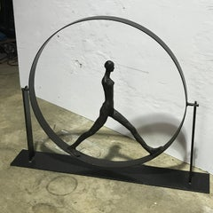After Giacometti Walking Figure in Sphere