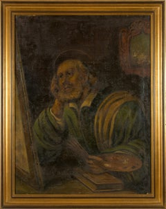 Portrait of Saint Luke the Evangelist after Guercino Central Italy 18th Century