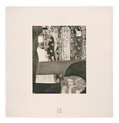 """Detail of Jurisprudence"" Gustav Klimt An Aftermath collotype, 1931"