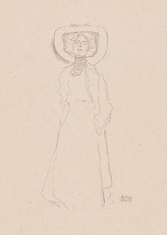 Gustav Klimt Handzeichnungen (Sketch) collotype lithograph, 1922