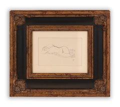 Reclining nude, Gustav Klimt Handzeichnungen (Sketch), 1922