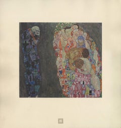"""Max Eisler Eine Nachlese folio """"Allegory of Life and Death"""" collotype print"""