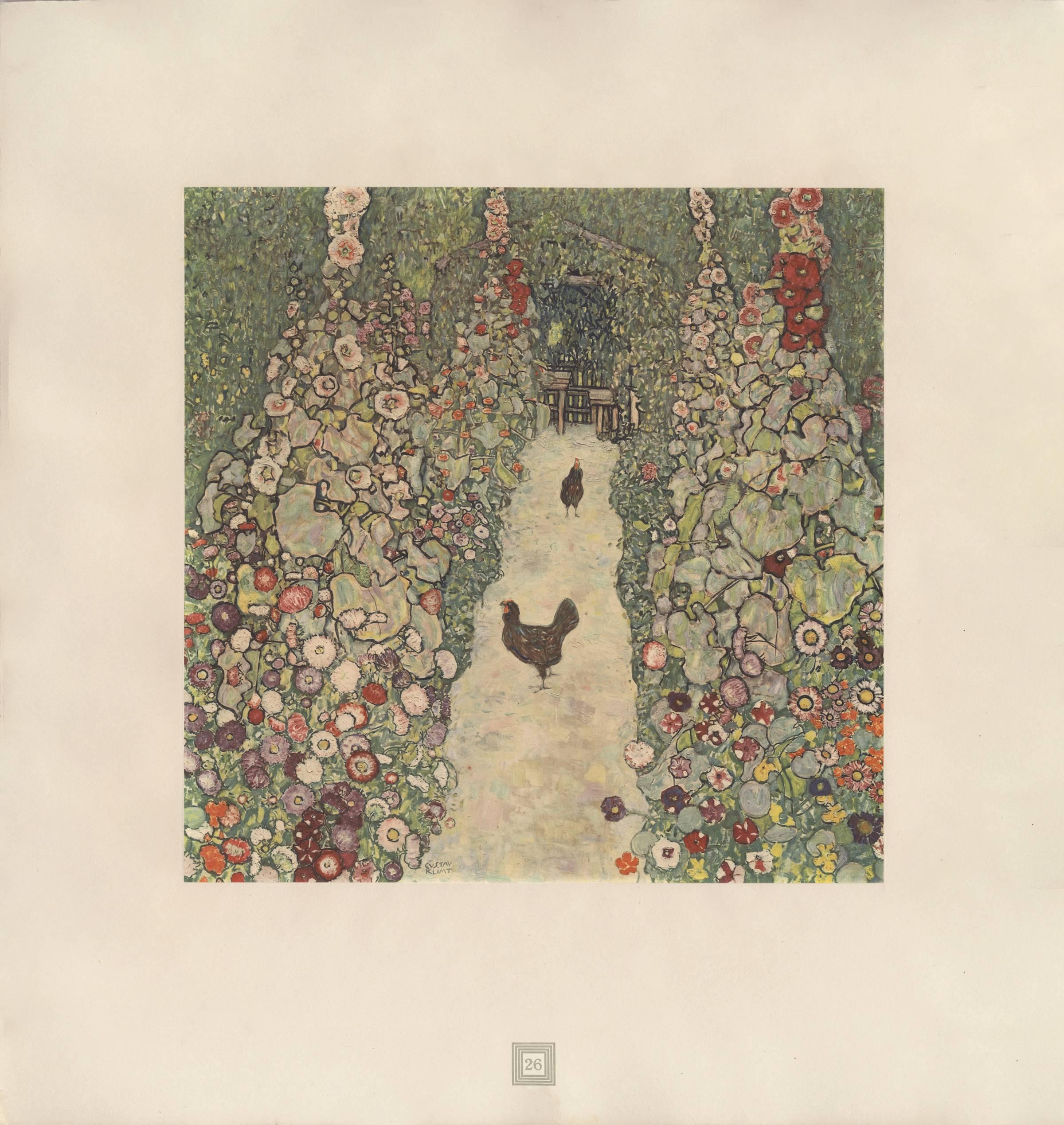Max Eisler Eine Nachlese Folio U201cGarden Path With Chickensu201d Collotype Print