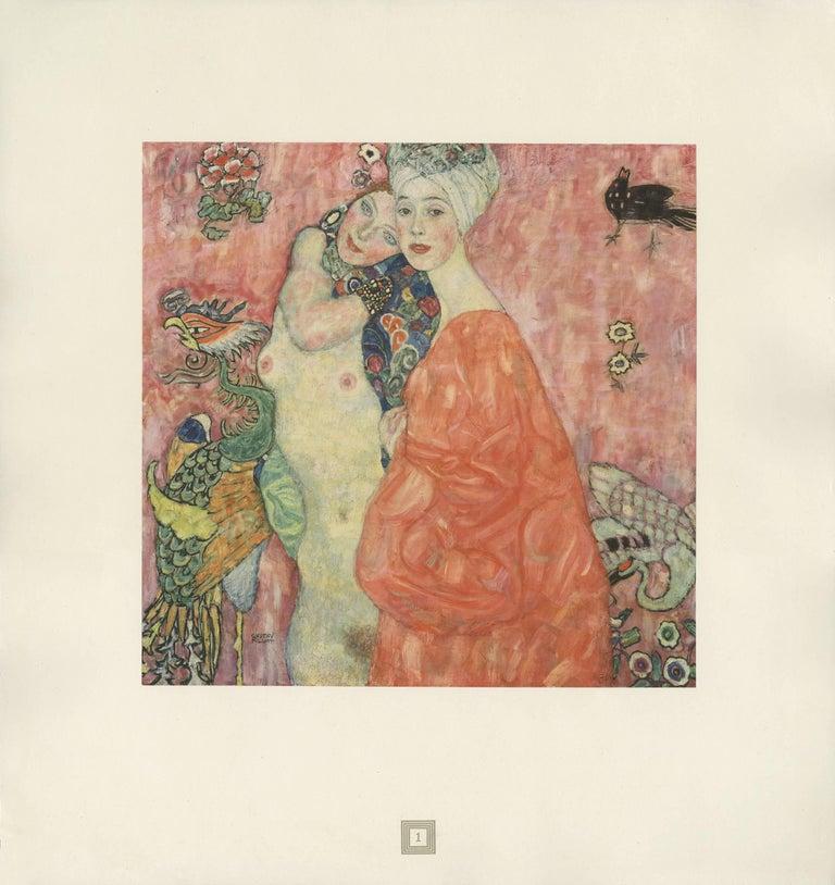 """(after) Gustav Klimt Figurative Print - Max Eisler Eine Nachlese folio """"Girlfriends II"""" collotype print"""