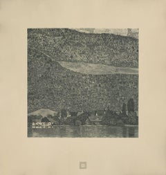 "Max Eisler Eine Nachlese folio ""Litzlberg on Lake Attersee"" collotype"