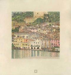 "Max Eisler Eine Nachlese folio ""Malcesine on Lake Garda"" collotype print"