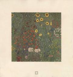 "Max Eisler Eine Nachlese folio ""Sunflowers"" collotype print"