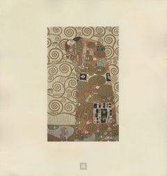 """Max Eisler Eine Nachlese folio """"The Embrace (Fulfillment)"""" collotype print"""
