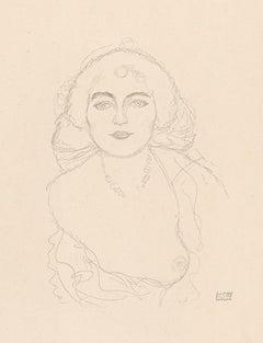 Bust of a Woman, Gustav Klimt Handzeichnungen (Sketch), Thyrsos Verlag, 1922