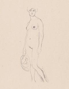 Standing nude, Gustav Klimt Handzeichnungen (Sketch), Thyrsos Verlag, 1922