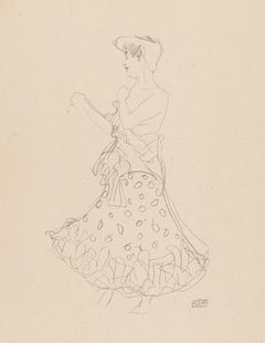 Woman undressing, Gustav Klimt Handzeichnungen (Sketch), Thyrsos Verlag, 1922
