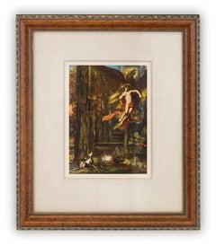 The Raising of Ganymede, Symbolist mythological lithograph, c. 1900