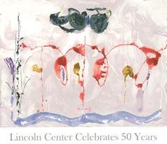 """Helen Frankenthaler- Aerie -33.5"""" x 39""""-Silkscreen Poster-2009-Lincoln Center"""