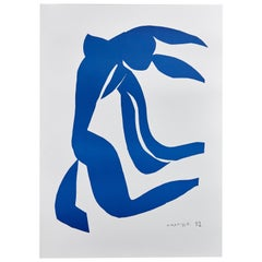After Henri Matisse Cut Out Blue Lithograph La Cheveulure