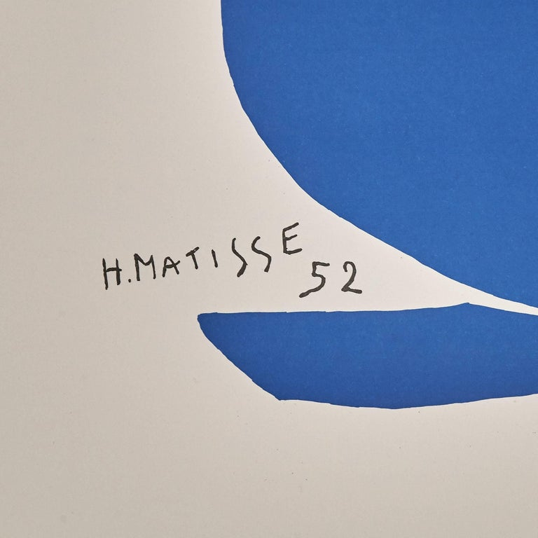 Color lithograph after the work by Henri Matisse,