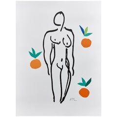 After Henri Matisse Lithograph, Nu Aux Orange