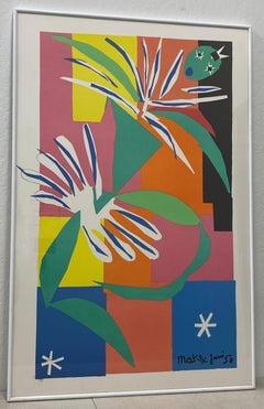 "After Henri Matisse ""La Danseuse Creole"" Framed Poster Late 20th Century"