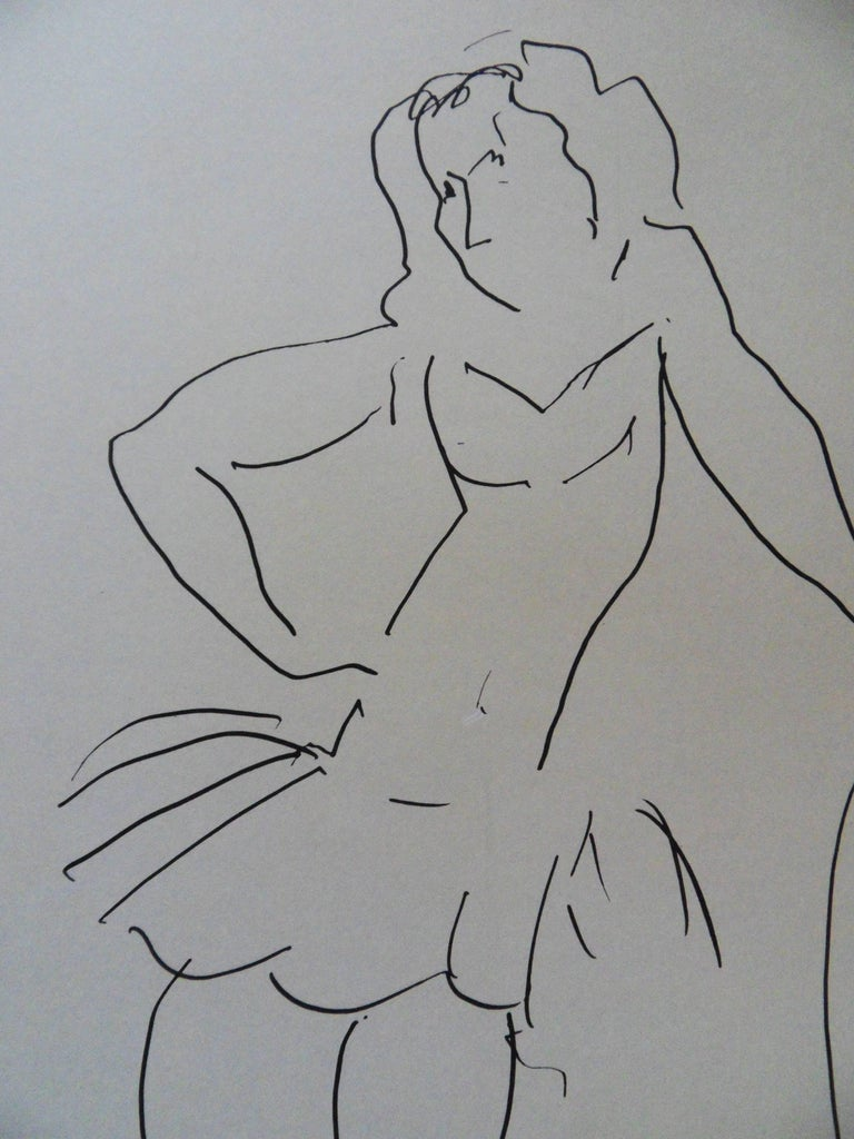 Christiane : Dancer - Lithograph Poster - Galerie Jacques Benador - Red Figurative Print by (after) Henri Matisse