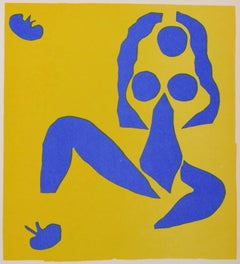 Composition in Blue and Yellow - Original Lithograph After Henri Matisse - 1960s