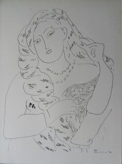 Elegant Woman - Lithograph, 1943