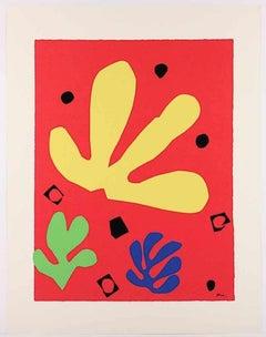 Eléments Végétaux - Original Screen Print After Henri Matisse - 1947