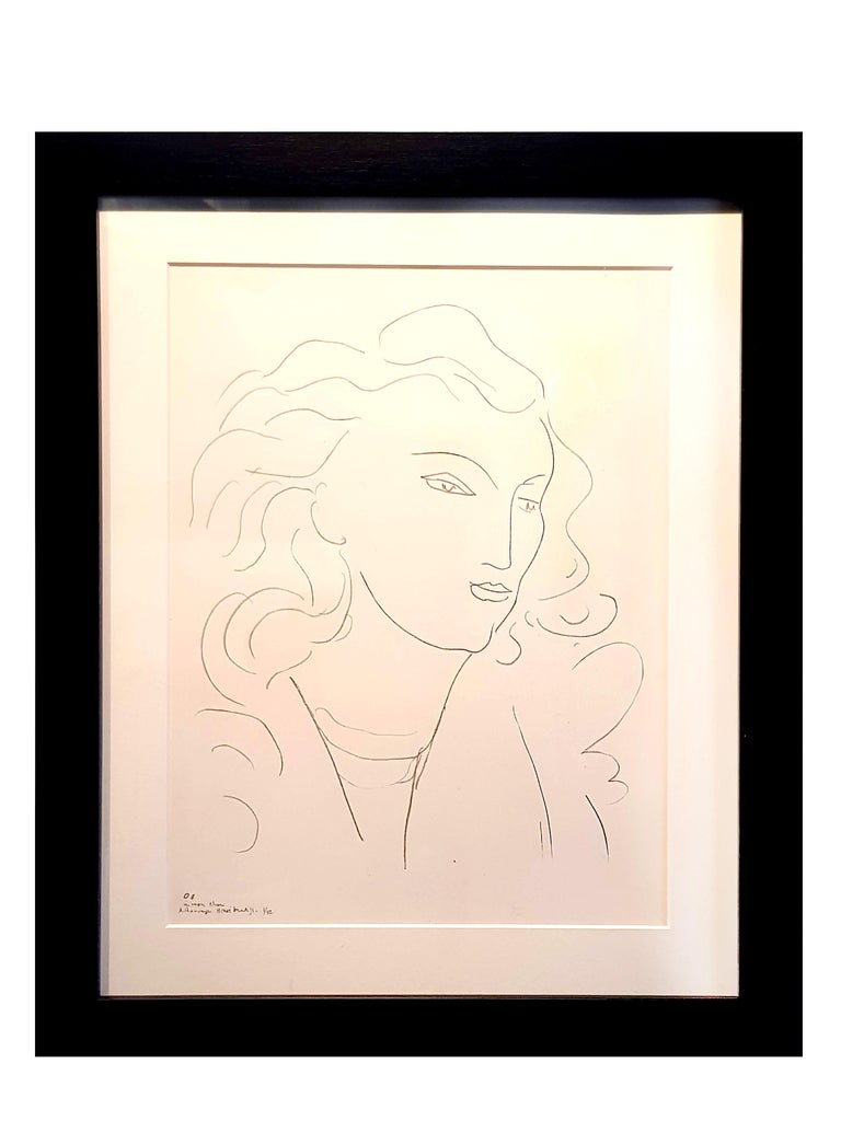 9bff613732f after) Henri Matisse - Henri Matisse (After) - Lithograph - Woman ...
