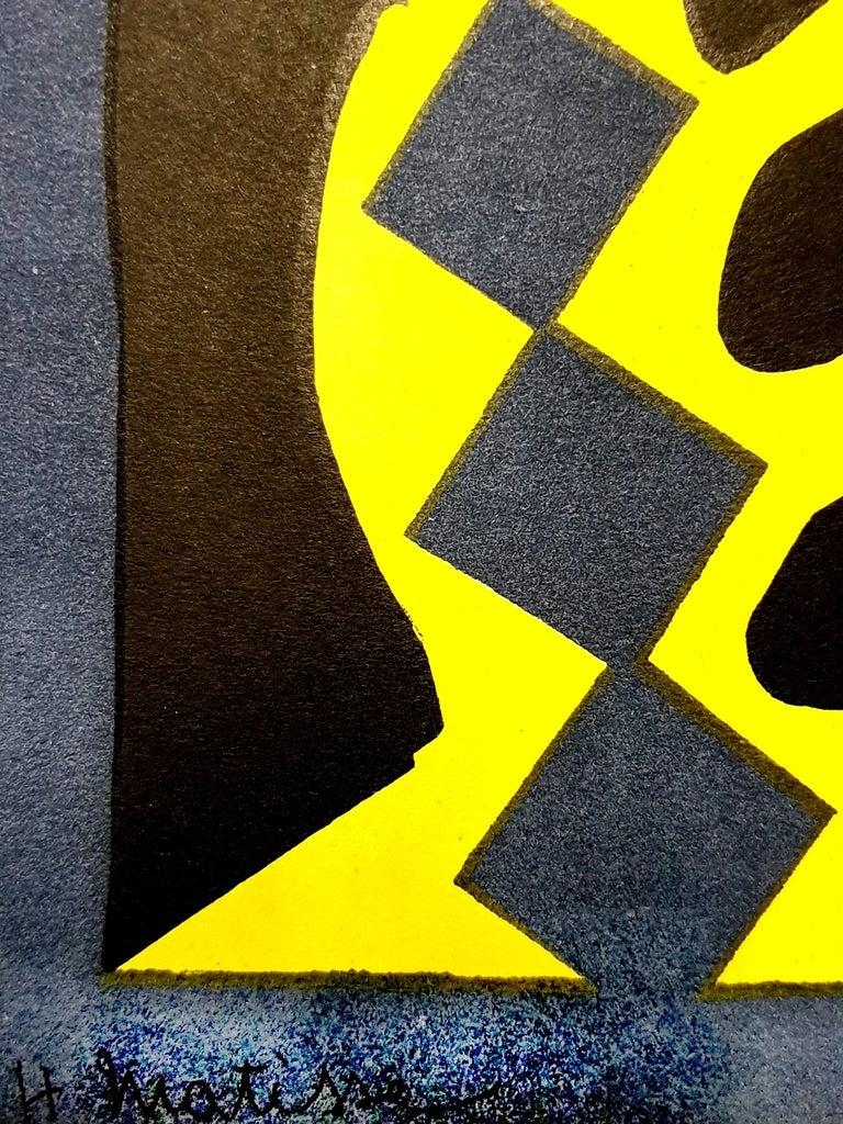 Henri Matisse (After) - Plant - Lithograph - Black Figurative Print by (after) Henri Matisse