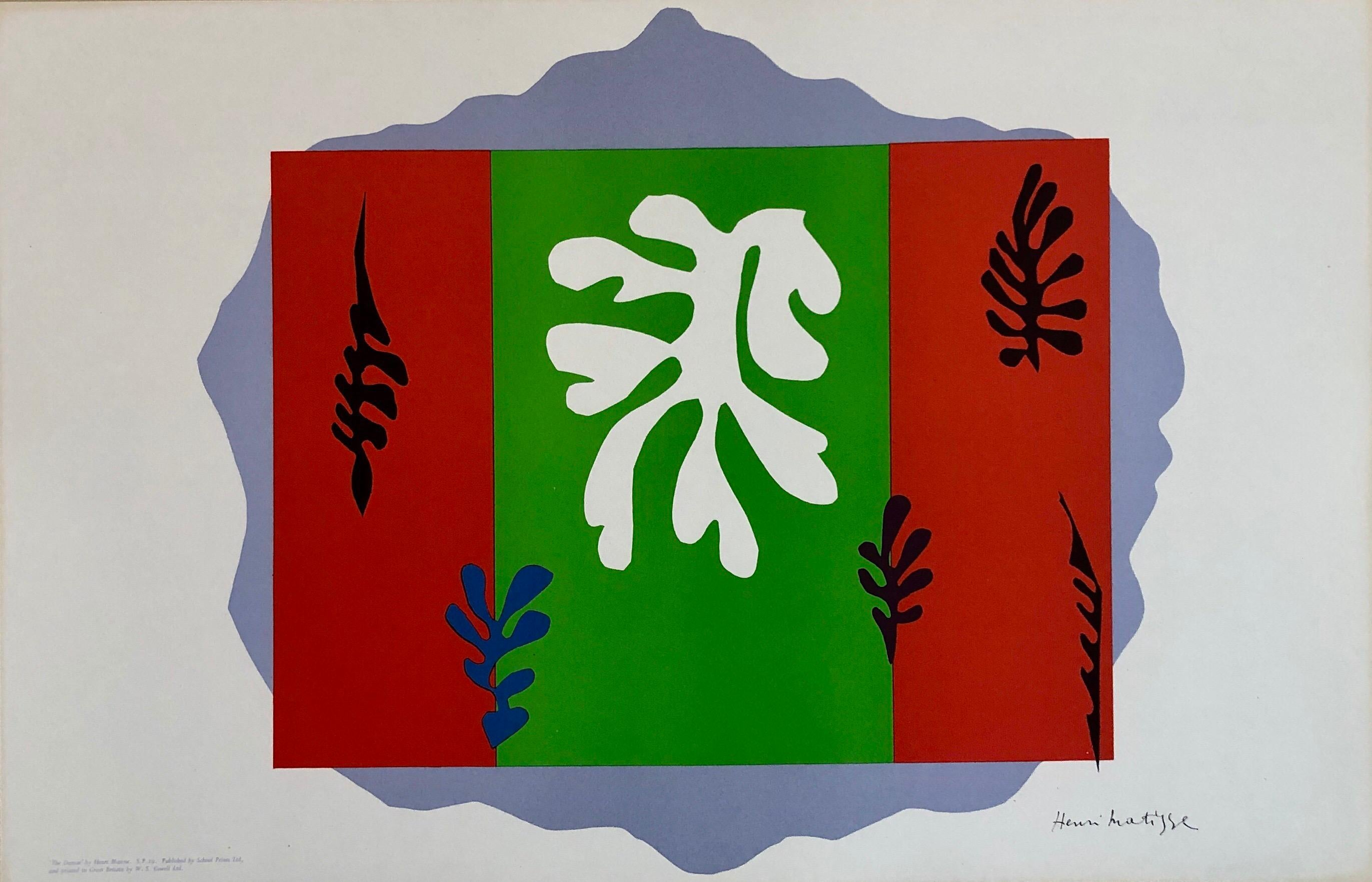 Henri Matisse School Prints Colorful Modernist Cut Out Jazz Drawing Lithograph