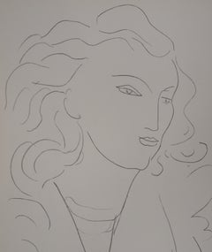 Model with Long Hair - Lithograph, 1943