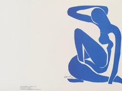 Nu Bleu I - plate signed - Henri Matisse Color Lithograph - 2007