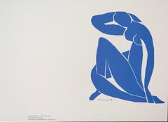 Nu Bleu II- plate signed - Henri Matisse Color Lithograph - 2007
