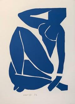 Nu Bleu III - Color Lithograph - 2007 - Henri Matisse