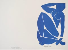 Nu Bleu III plate signed - Henri Matisse Color Lithograph - 2007