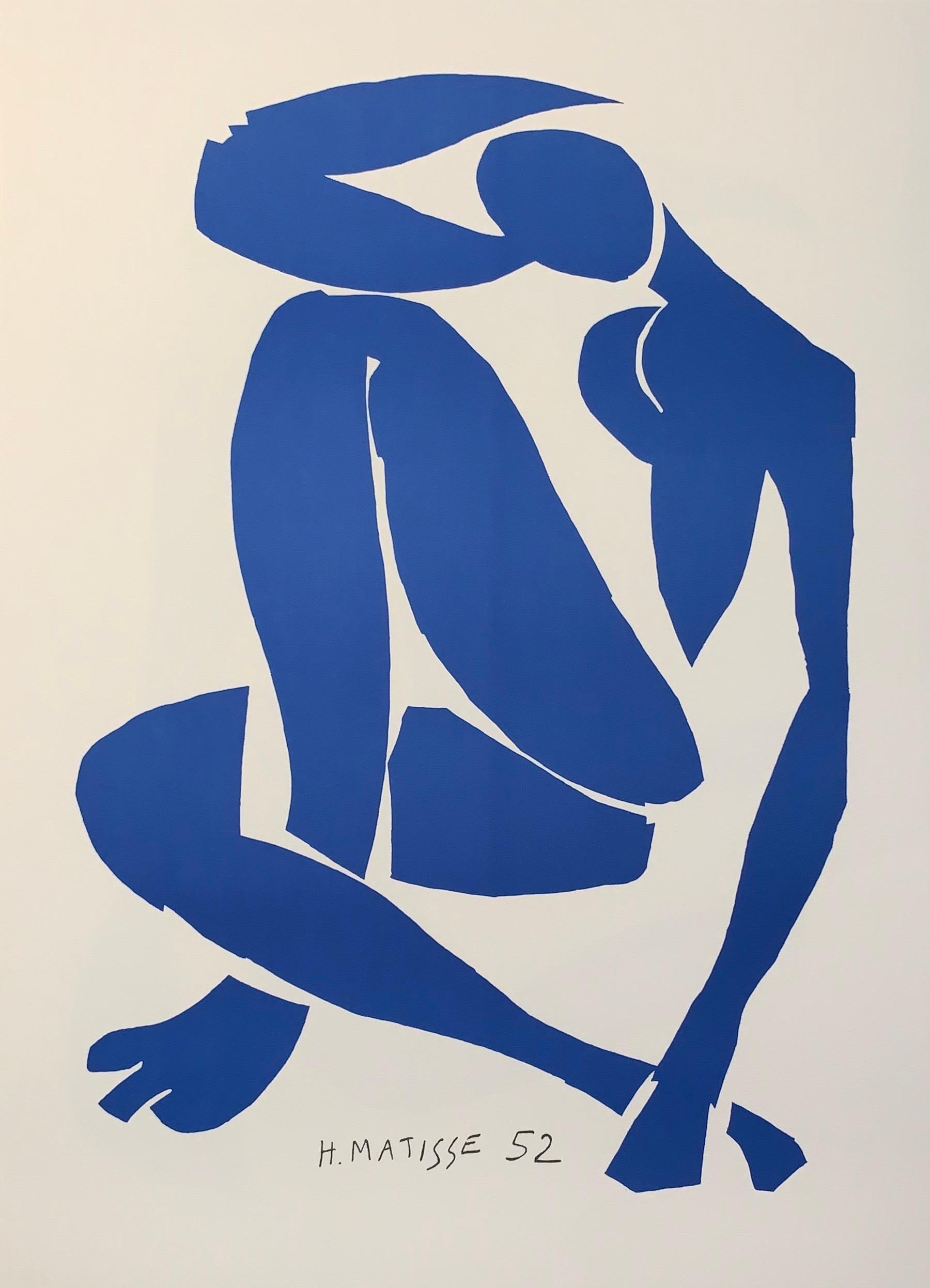 Nu Bleu IV - Color Lithograph - 2007 - Henri Matisse