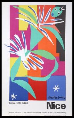 Original vintage poster for Nice, Cote d'Azur - La Danseuse Creole by Matisse