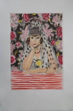Spanish woman - Color etching & aquatint